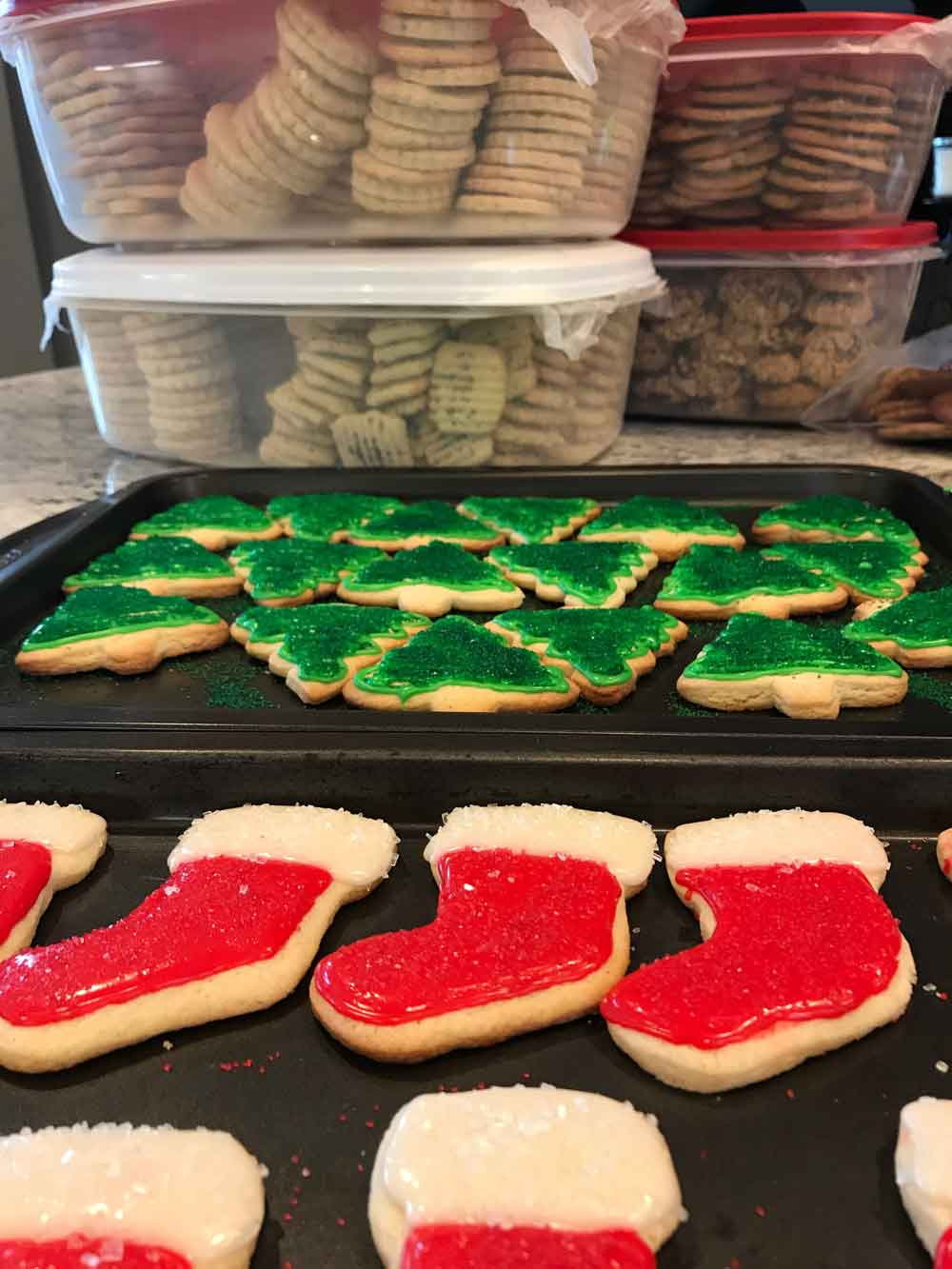 Christmas Tree Stocking Cookies 1 Dozen Baking By Shannon