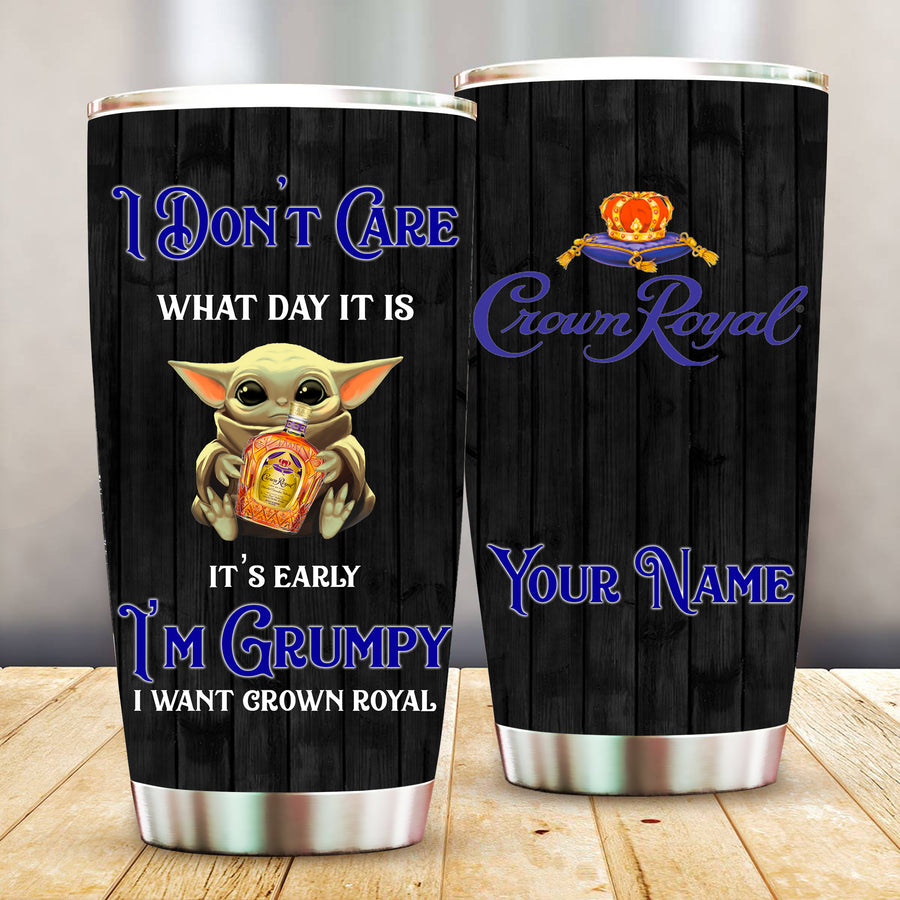 Crown Royal Grumpy Custom Name Tumbler Cup TBL109