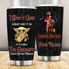 Captain Morgan Grumpy Custom Name Tumbler Cup TBL110