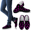 Women's Slip ons Purple paw prints