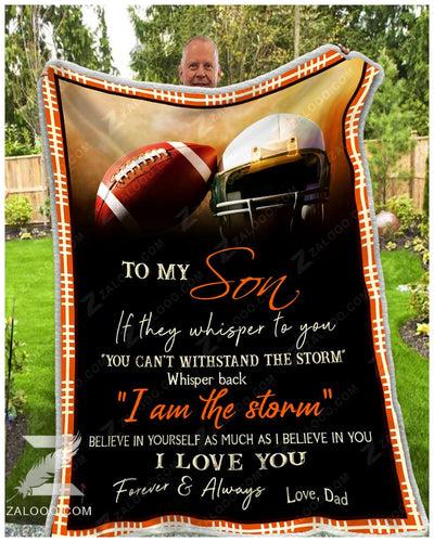 Football - To My Son - I Love YouDad - 2