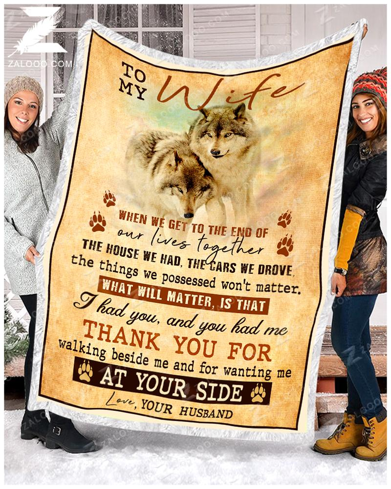 Wolf - To My Wife - Thank You For Quilt Blanket EP2701