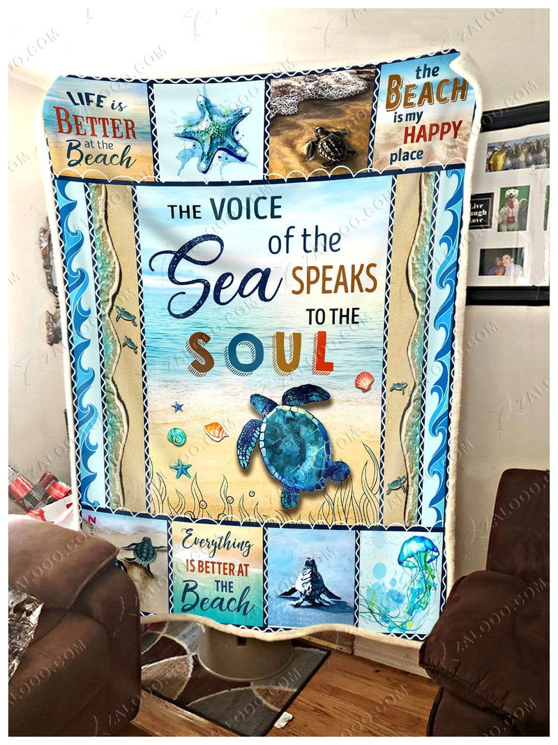 Turtle - The Voice Of The Sea Quilt Blanket EP2266