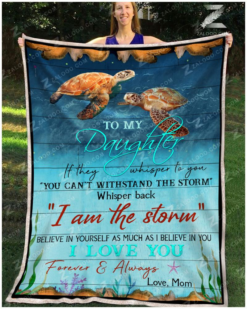 Turtle - To My Daughter - If They Whipers To You Quilt Blanket EP2704