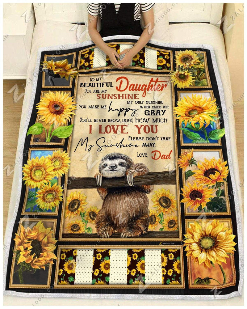 Sloth - You Are My Sunshine - Love Dad Quilt Blanket EP2171