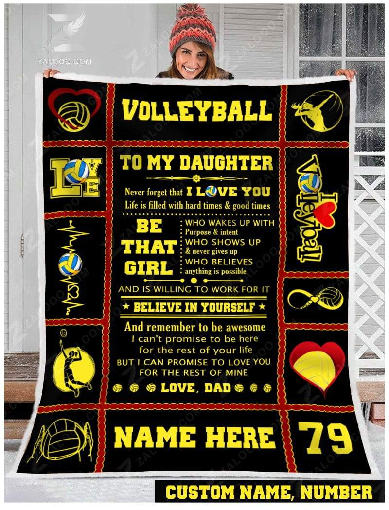 Volleyball - To my daughter - Be that girl Quilt Blanket EP1252
