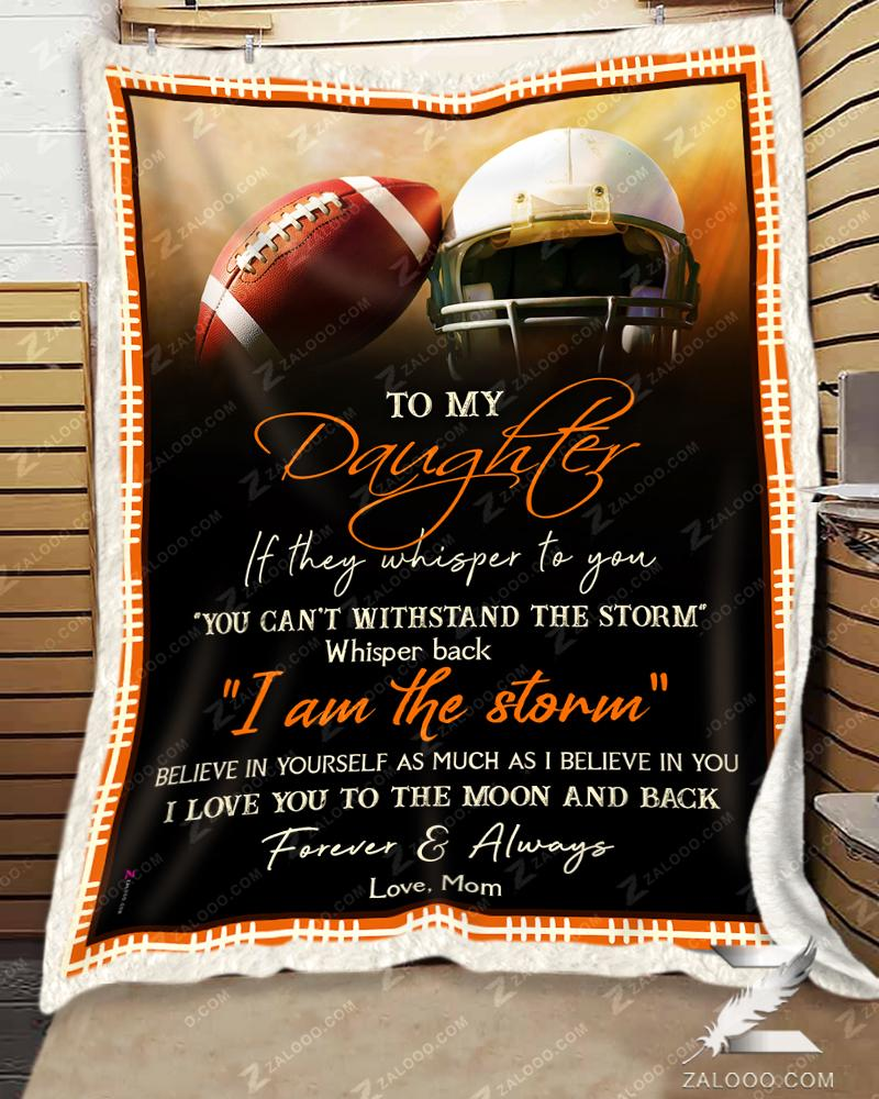 Football  - To My Daughter - I Love You Quilt Blanket EP3689