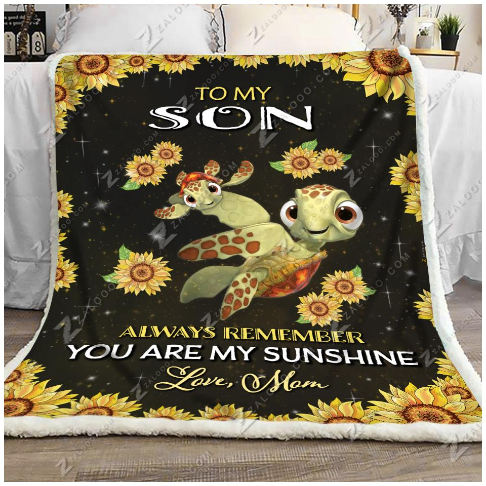 Turtle - To My Son - My Sunshine Quilt Blanket EP2309