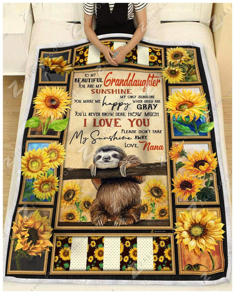 Sloth - To My Beautiful Granddaughter - Love Nana Quilt Blanket EP2618
