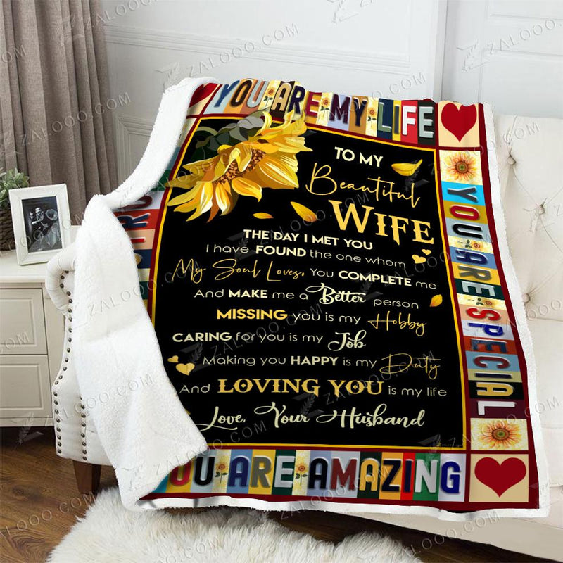 To my Wife - You are my Life Quilt Blanket EP2600