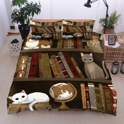 Reading Book And Cat Bedding Sets EP348