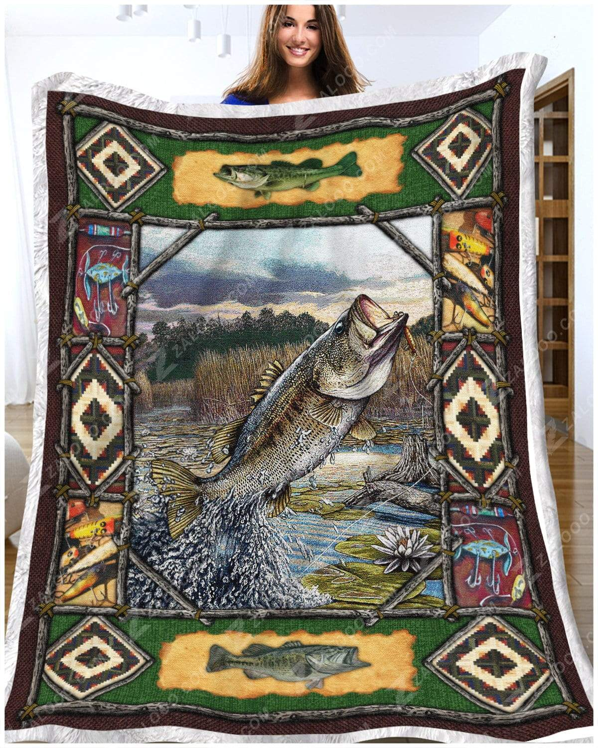 Fishing - Bass Fishing Quilt Blanket EP2182