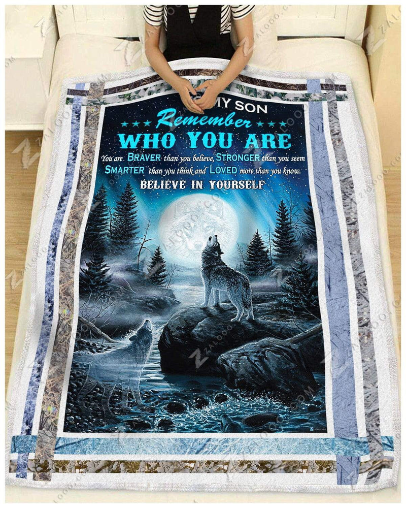 Wolf - To My Son - Believe In Yourself Quilt Blanket EP1238