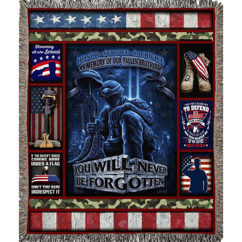 Wovens - Veteran - You will never be forgotten Quilt Blanket EP1521