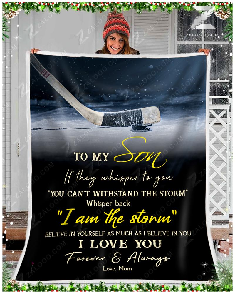 Custom Hockey - To My Son - I Love You2 Quilt Blanket EP3546
