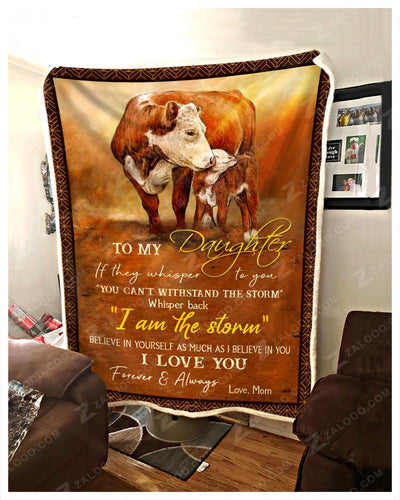 Cow - To My Daughter - Love Mom - 2