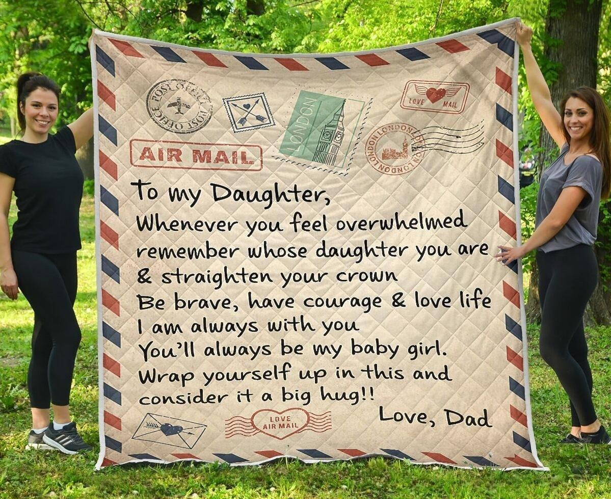 To My Daughter Quilt Blanket EP367