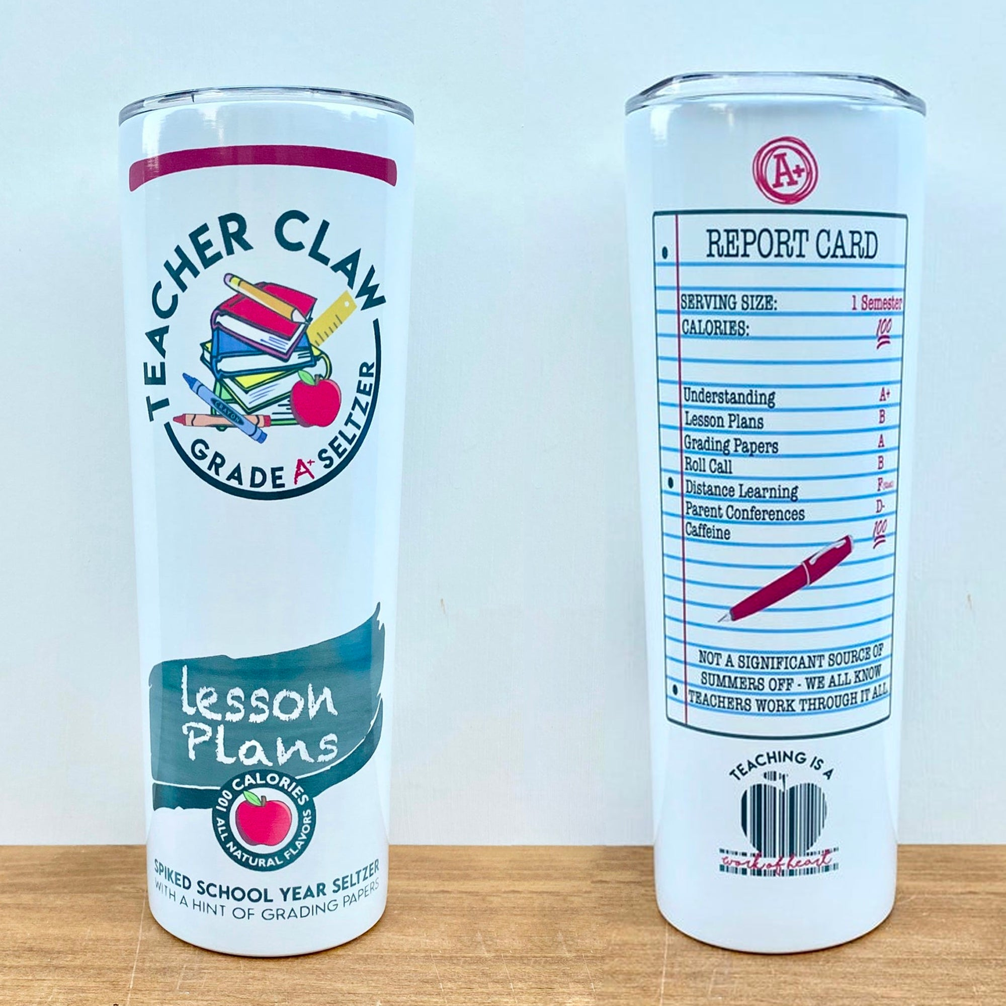 Teacher Claw Stainless Steel Skinny Tumbler TBL121