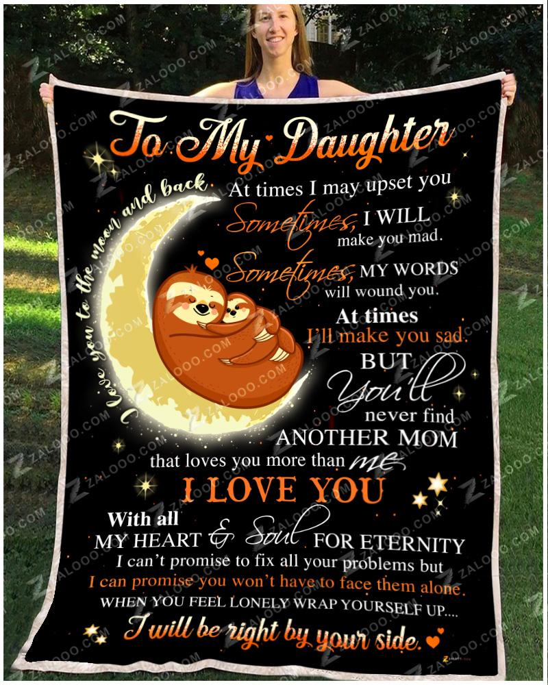 Sloth - PH - Daughter - Love You With All My Heart  Soul Quilt Blanket EP2684
