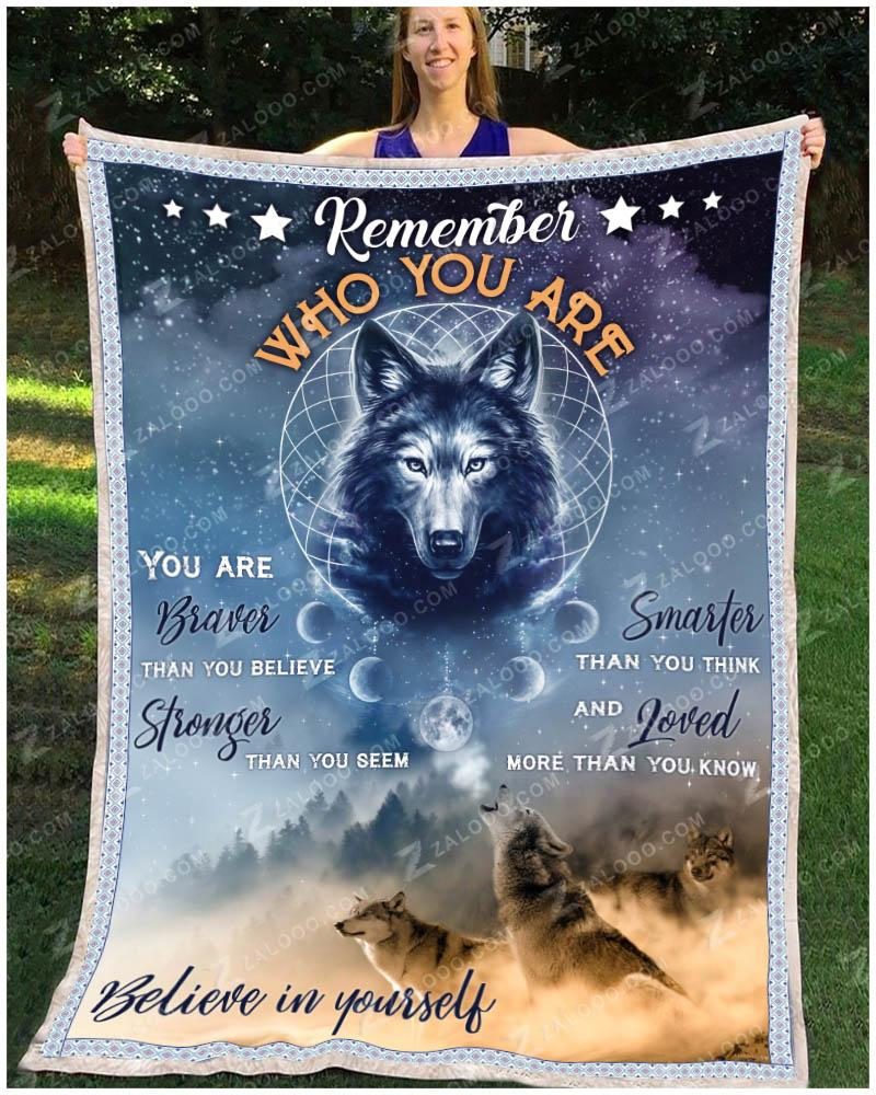 MK - Wolf - Remember Who You Are Quilt Blanket EP2695