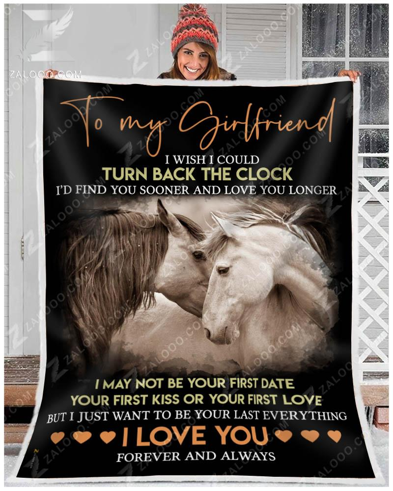 MK - Horse - Girlfriend - Just Want To Be Your Last Everything Quilt Blanket EP1501