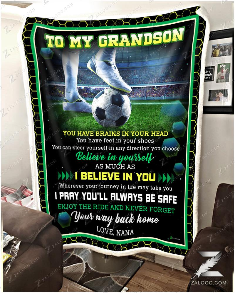Soccer To my Grandson Nana - Believe In Yourself - 1