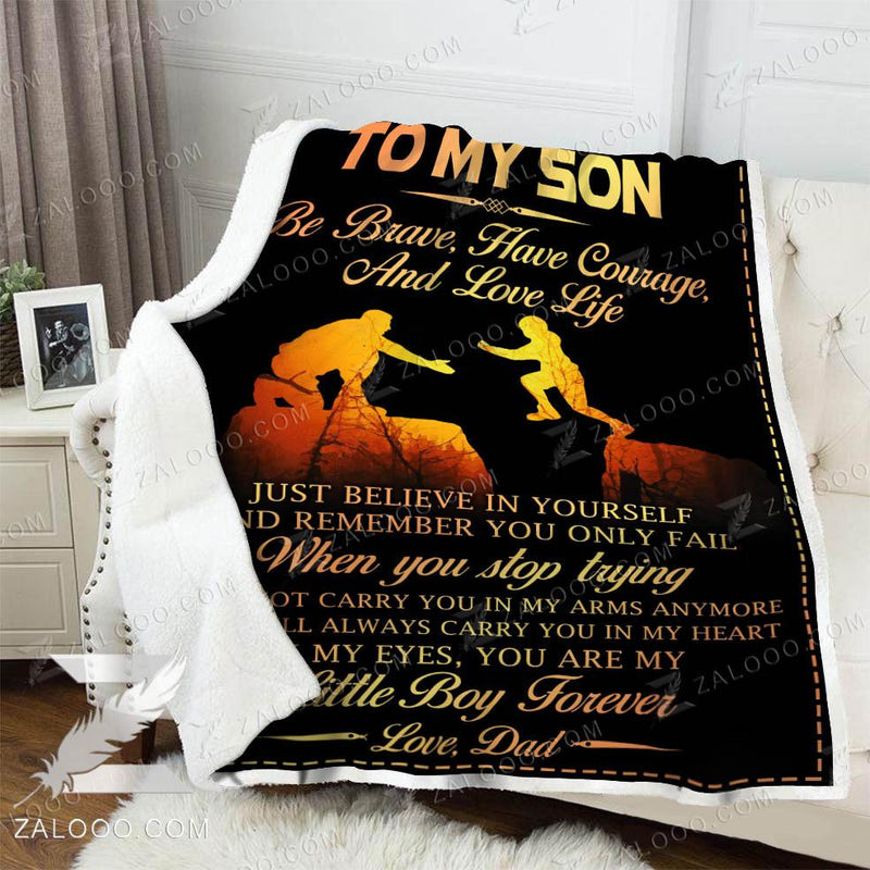 To my son - My little boy forever Quilt Blanket EP2742