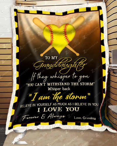 Softball - To My Granddaughter - I Love You - 2