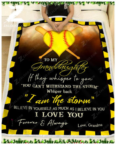 Softball - To My Granddaughter - I Love You - 1
