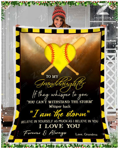 Softball - To My Granddaughter - I Love You - 3