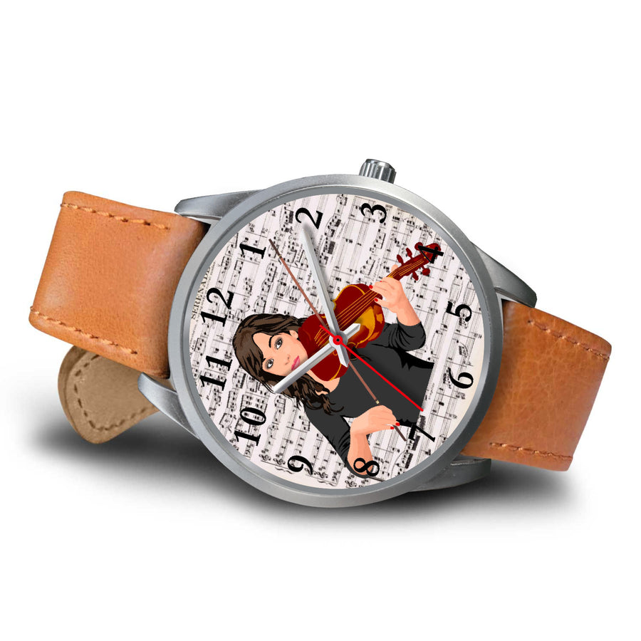 Violin Sheet Music Wrist Watch
