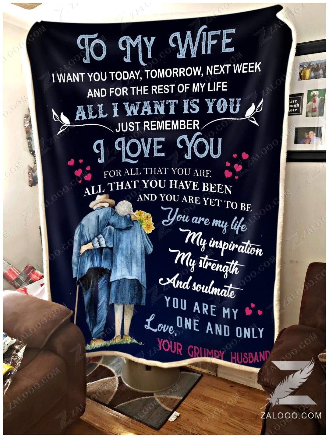 To my wife - I want you for the rest of my life Quilt Blanket EP2749