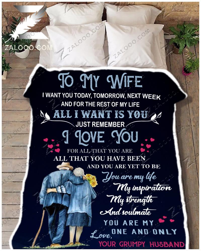 To my wife - I want you for the rest of my life Quilt Blanket EP2730