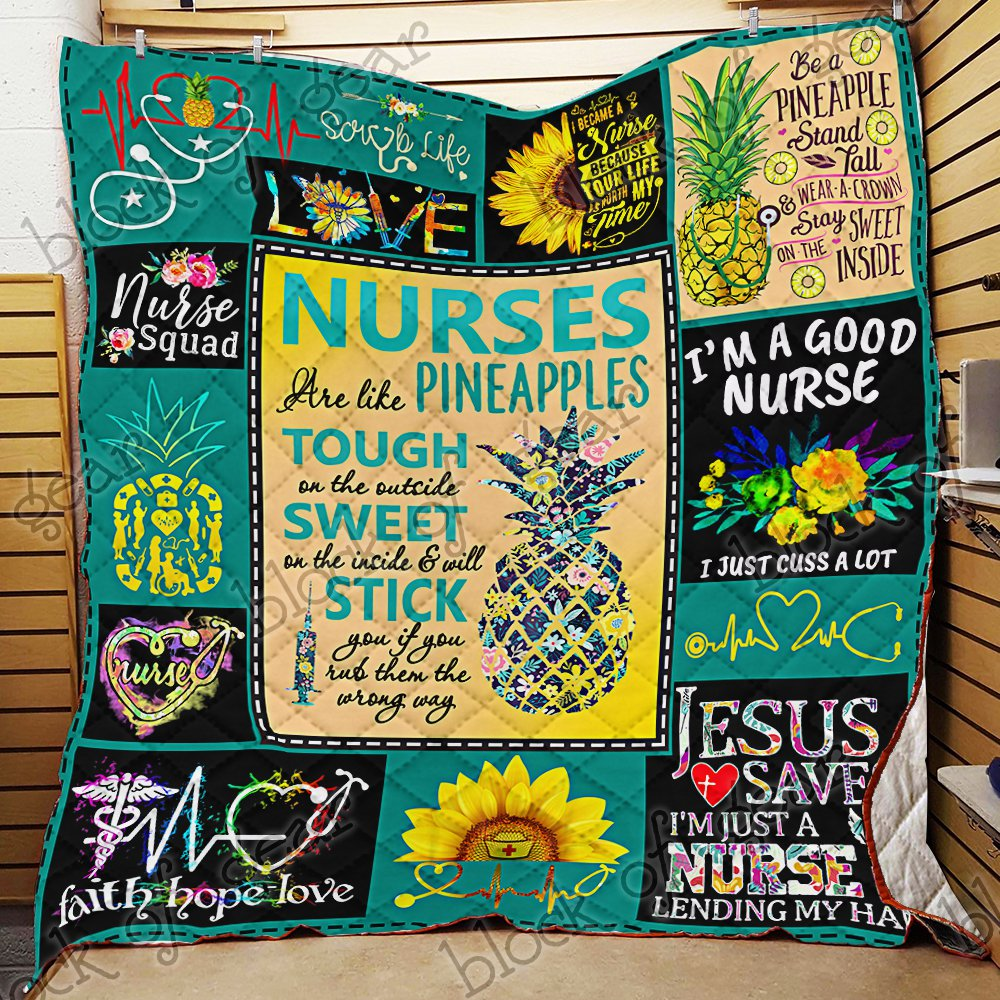 Pineapple Nurse Quilt Blanket EP199