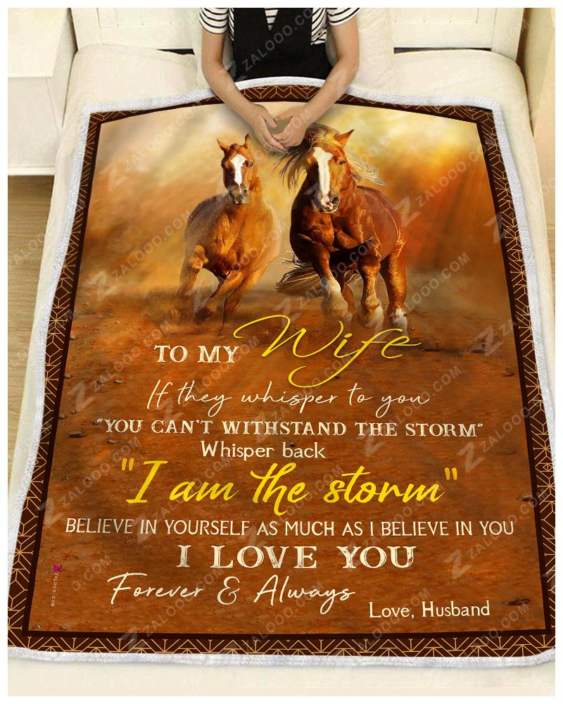 Horse - To My Wife - Love Husband Quilt Blanket EP1438