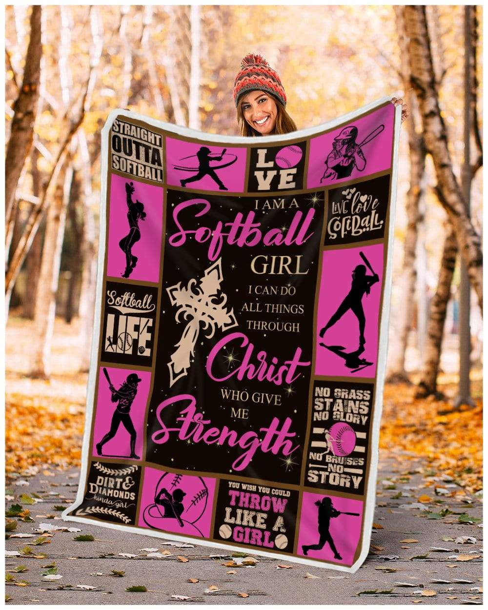 Softball - I can do all things Quilt Blanket EP2797