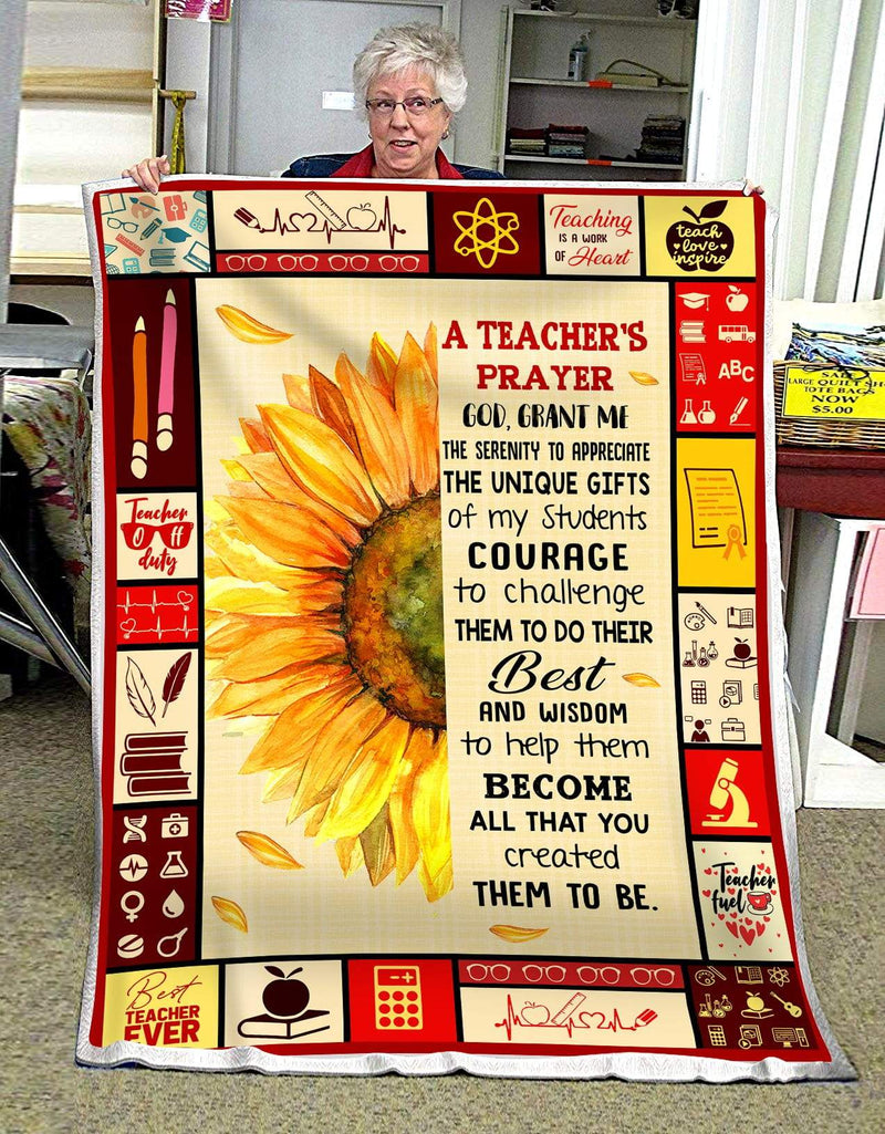 Teacher - A Teachers Prayer Quilt Blanket EP2284