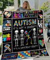 AUTISM ITS NOT A DISABILITY DABBING Quilt Blanket EP319