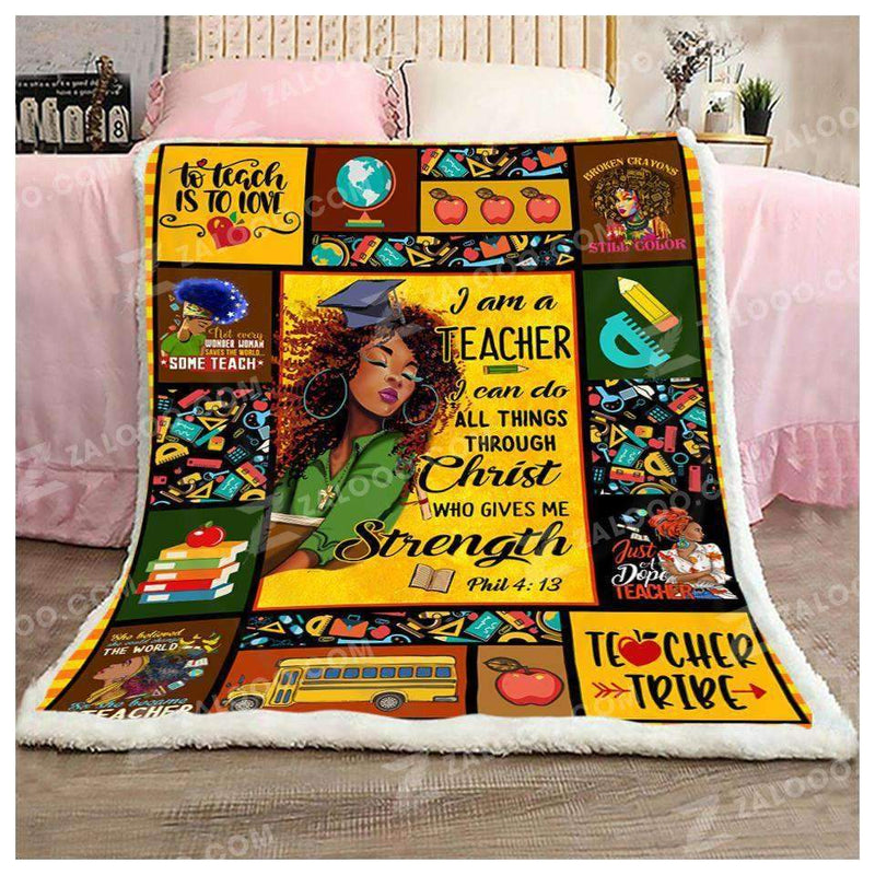 TEACHER - I can do all things Quilt Blanket EP1323