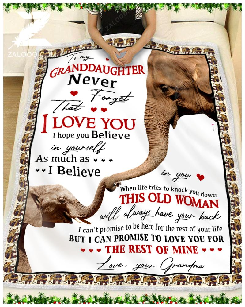 Custom ELEPHANT - To My Granddaughter Grandma - When life tries to knock you down - 1