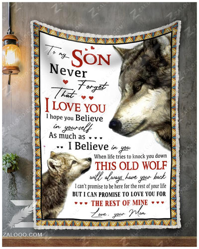 Custom WOLF - For Son From Mom - When life tries to knock you down - 1