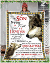 Custom WOLF - For Son From Mom - When life tries to knock you down - 3