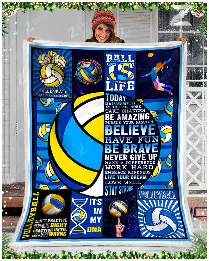 VOLLEYBALL - Today Is A Brand New Day Quilt Blanket EP1473