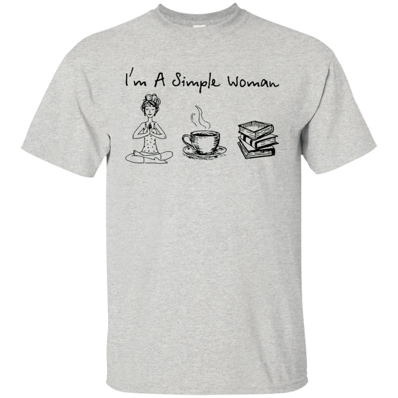 I'm A Simple Woman Yoga Book Tshirt