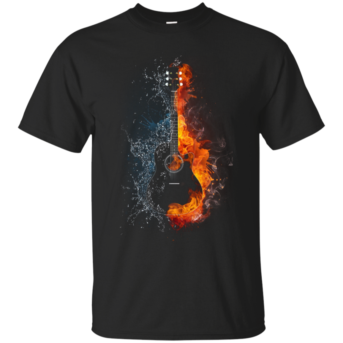 Guitar Fire And Ice Tshirt