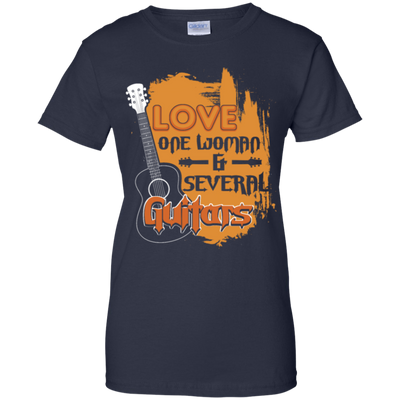 Love One Woman Several Guitar Tshirt