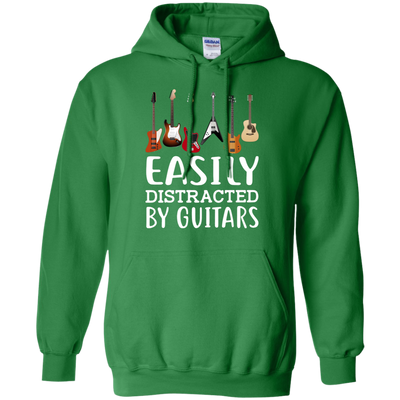 Easily Distracter By Guitar Tshirt