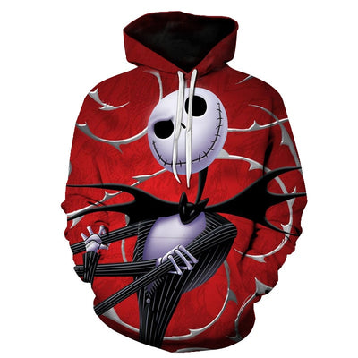 The Nightmare Before Christmas Jack And Sally Skellington All Over Hoodie PF146