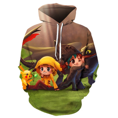 New cartoon Pokemon All Over Hoodie PF136