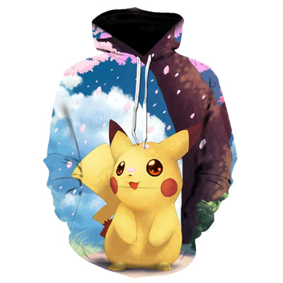 2019 new cartoon Pokemon All Over Hoodie PF130
